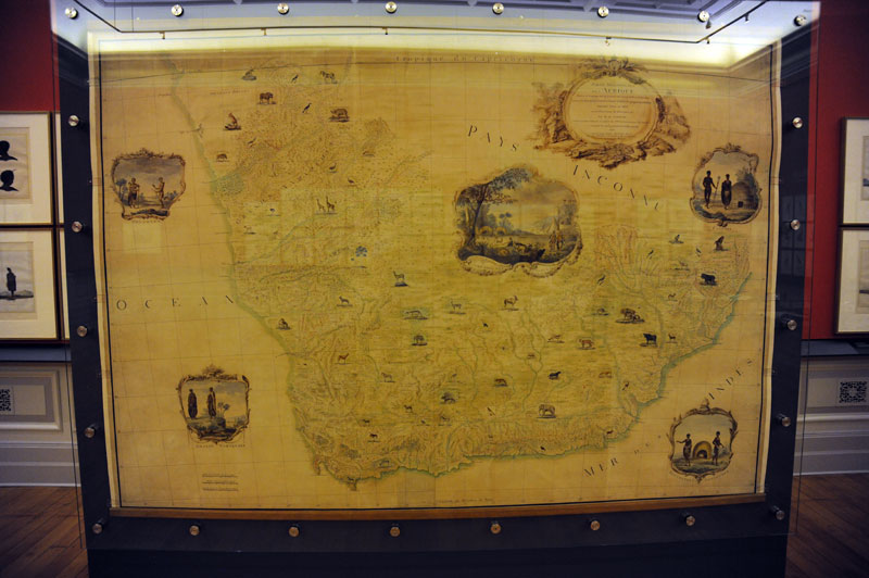 The famous map of Southern Africa produced by Le Vaillant for the King of France.