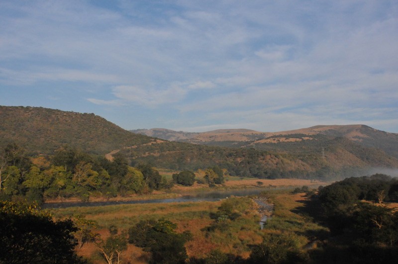 A view of the Umkomaas Valley in the early morning with the mist still lifting off the river.