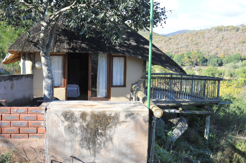 My rondavel accommodation while hunting in the Umkomaas Valley.